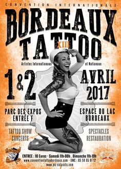 CONVENTION BORDEAUX TATOO Profitez pour faire un tour au SALON TATOO à BORDEAUX,