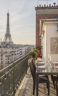 Top-floor terrace of the Margaux apartment by #ParisPerfect