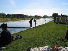 Waterpret in het Westerpark