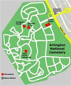 Arlington National Cemetery Map - Bing Images