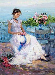 Konstantin Razumov - On the Terrace in Summer