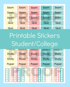 New to CommandCenter on Etsy: Erin Condren Planner Stickers Printable Planner Stickers Erin Condren Stickers Planner Stickers Erin Condren College Planner Stickers (1.99 USD)