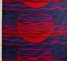 Tampella Fabric Made in Finland Paiste Huge 5 yds Vtg Retro 1970s Fabric | eBay