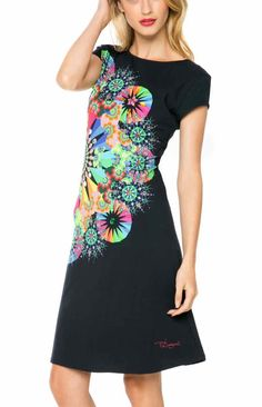61V20G9_2000 Desigual Dress Bernadett, Black