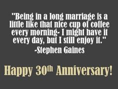 30th Anniversary Quotes, Wishes, Poems and Messages.