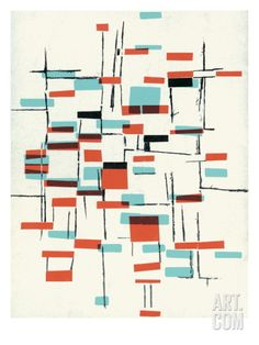 Abstract pattern Art Print by Pop Ink - CSA Images at Art.com