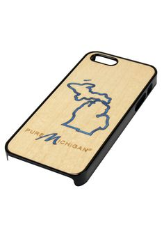 Cool wooden iPhone 5 case from the Pure Michigan online store.