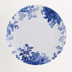 Paula Deen Dinnerware Tatnall Street 4 Piece Dinner Plates Set in Blue Bell - 58117