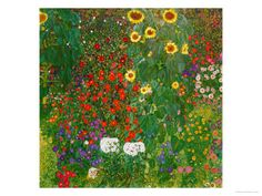 Garden with Sunflowers, 1905-6 Giclee Print by Gustav Klimt at AllPosters.com