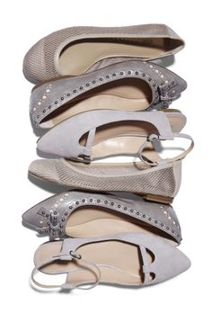 Light grey shoes. I need some for spring. I love the 2nd pair.