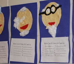 """100th day  -- Kids make a """"bucket list"""" of things that they want to do before they turn 100."""