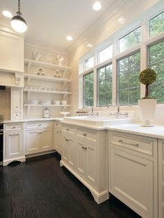 Oxford Development - kitchens - Thomas O'Brien Hicks Pendant, white kitchen cabinets, calcutta marble, calcutta marble countertops, kitchen ...