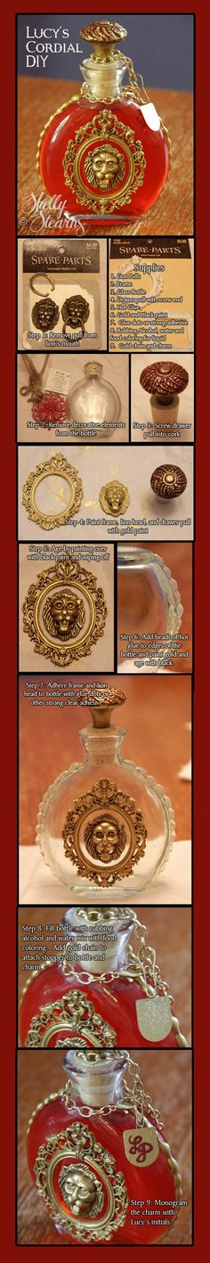 Lucy's Cordial from  The Chronicles of Narnia - DIY Tutorial by Shelly Stearns #Narnia #propreplica