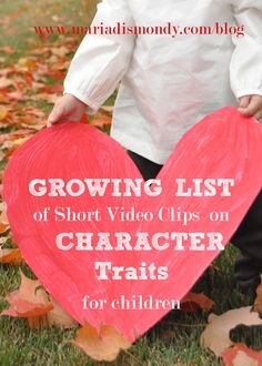 This link leads to youtube videos of Sesame Street skits.  Character on YouTube : Blog by Author Maria Dismondy