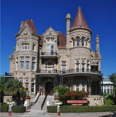 the Bishop's Palace Galveston, Texas  Built in 1892, it is a visually stunning and spatially impressive Victorian stone mansion that has weathered many massive hurricanes.
