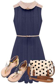 2013 New Arrival Leisure Pleated Turndown Collar Dress. #fashionlady