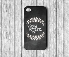 Chalkboard background- iPhone 4/4s case - iPhone 5/5s case - Gear for iPhone - Monogram iPhone case - Christmas Gift -Stocking Stuffer