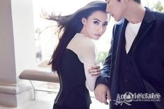 Cecilia Cheung and Kwon Sang Woo by Chen Man for Marie Claire China