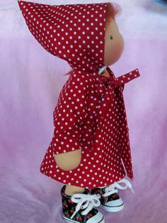 "Waldorf doll  Coat fits 14"" slim doll 2 pc Coat and Hat fully lined (for sale on etsy)"