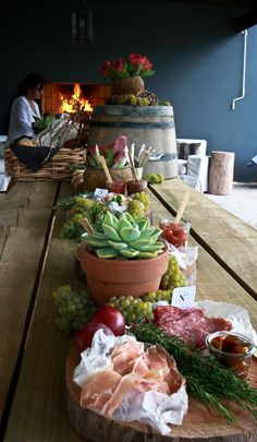 Harvest table 2012 - Newstead Wines, Plettenberg Bay, South Africa www.newsteadwines.com (Styling Sue Lund)