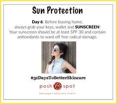 News flash: sunscreen isn't optional! Use it daily to fight damage from UV rays! ‪#‎31DaysToBetterSkincare‬ ‪#‎NationalCancerAwarenessMonth‬