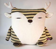 caribou animal pillow | velvet moustache