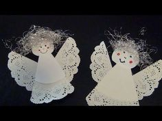 Einen Engel aus Tropfdeckchen basteln Weihnachten