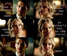 Klaus and Caroline. TVD. :)