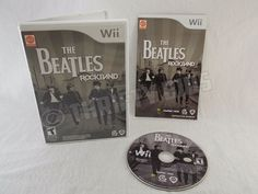 Nintendo Wii The Beatles Rock Band  2007 Complete with disc manual & case Tested