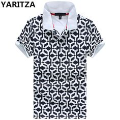 YARITZA Tomy Brand Men POLO Shirt High Quality Cotton Short Sleeve POLO Shirt Casual Printed Masculina Camisetas Sports Shirts
