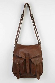 BDG Leather Tab-Strap Messenger Bag  This would be absolutely PERFECT for school.  Not only does it have room for my books and folders, but I could also carry around all my normal purse stuff.