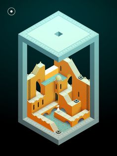Monument Valley 2 is an illusory adventure of impossible architecture and forgiveness by ustwo games Isometric Art, Isometric Design, Pixel Art, Monument Valley Game, Low Poly Games, Game Ui Design, 2d Design, Illustration Story, Plakat Design