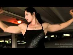 Female Working Out Fitness Model Oils Up Female Super Strength Sexy See more here: http://FitChicksDaily.com/?p=330