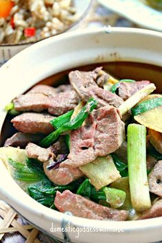 Stir-Fried Pig Liver With Ginger And Spring Onion