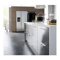 """GREVSTA Door, stainless steel - stainless steel - 15x30 """" - IKEA"""