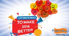 The best shopping deals to make the last few days of the year memorable!  Visit:http://www.couponcanny.in/new-year-deals/ today!