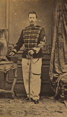 Carol Popp de Szathmary - Prince Alexandru Ioan Cuza as colonel of Romanian army, 1864?