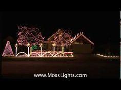 """2012 Christmas Light Show """"80,000 Lights"""" LOR Light-o-rama MossLights.com in League City, TX - YouTube"""