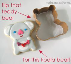 I love you (koala) bear-y much cookies! | Make Me Cake Me