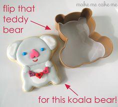 I love you (koala) bear-y much cookies! | Make Me Cake Me