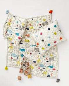Noah's ark blanket, inspired by the classic tale, introduces your little one to animals big and small. This playtime blanket is made from the softest brushed cotton and measures 36 x 36 inches. and is sure to become a family favorite and future heirloom.