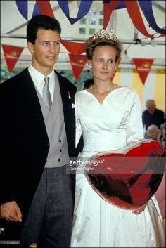 Wedding of Prince Alois of Liechtenstein and sophie in Bayern in Vaduz, Liechtenstein on July 03, 1993.
