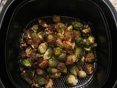Air fryer brussels sprouts. Yum!