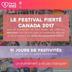 Le Festival de la Fierté, du 10 au 17 août 2017! News Articles, Blog, Blogging