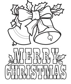 Free, printable Christmas coloring page for kids of Christmas bells and holly. Print it and find more fun coloring pages here --> http://www.mpmschoolsupplies.com/ideas/4665/christmas-bells-coloring-page-5/