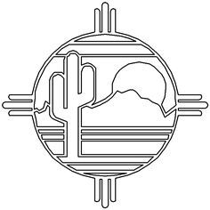 Navajo Pattern Coloring Page   Southwestern & Native American 7 Coloring Page