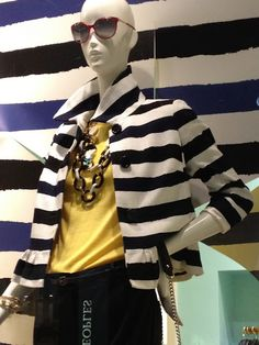 stripes + yellow - creepy mannequin = <3