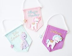 Custom name banner any design and any colour Cute Crafts, Felt Crafts, Diy And Crafts, Baby Mobile Felt, Felt Baby, Felt Wreath, Felt Garland, Baby Name Banners, Felt Banner
