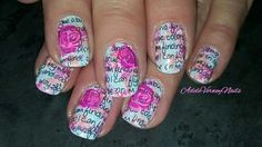 #bunnynailsplates plate BuNa A & C #adeleverweynails  #rosesnails #repost #colorfulnails #stamping #nailsoftheday #nailpolishaddict #stampingart  #nailartwow #wordsnails