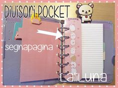 Printables dividers  - Pocket  MOLANG Kawaii - SEGNAPAGINA-RIGHELLO  https://www.etsy.com/it/shop/LaliLunaStore